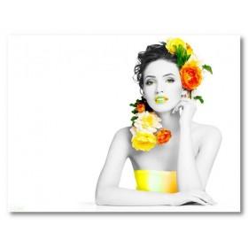 Αφίσα (κορίτσι, χρώματα, λουλούδια)